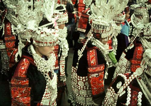 Women's Headress at Festival, Ghuizhou Province, China